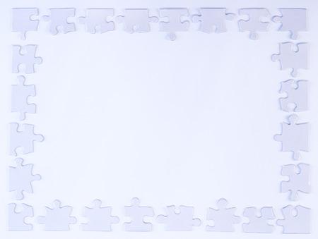 White puzzelstukje Border