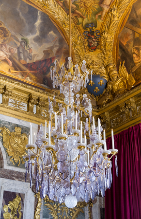versailles: Chandelier at Versailles Editorial