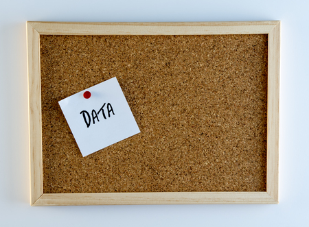 vernacular: Data Pinned to Cork Bulletin Board