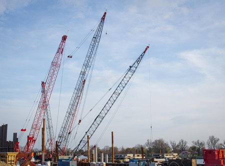 work area: Cranes and Industrial Work Area