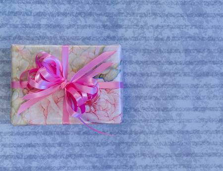 feminine: Feminine Wrapped Gift Stock Photo