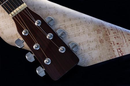 Guitar Headstock Reklamní fotografie