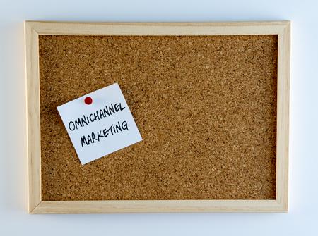 cliche: Omnichannel Marketing Pinned on Cork Bulletin Board