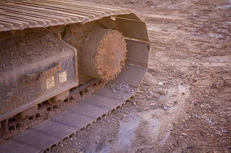 Bulldozer close-up Stockfoto - 45874198