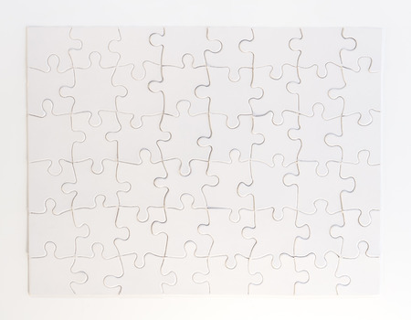 completed: Completed White Jigsaw Puzzle