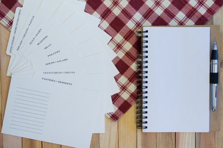 recipe card: Recipe Card Categories and Blank Spiral Notebook