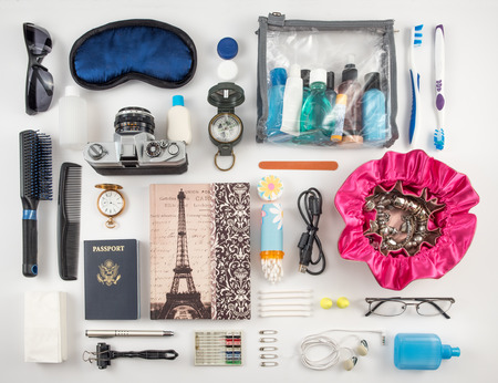 Travel Essentials Photomontage