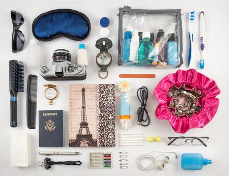 contact lens: Travel Essentials Photomontage