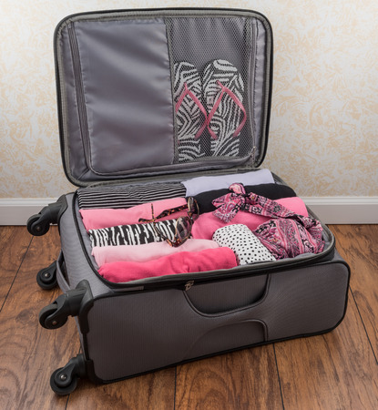Womens Packed Carry On Suitcase