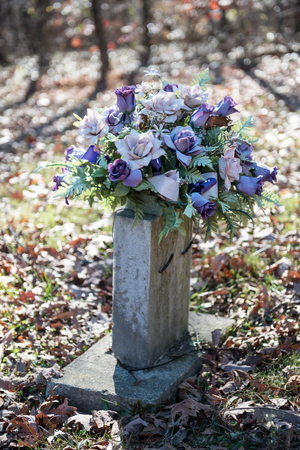 gravesite: Old Graveside With Flowers