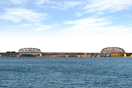 Railroad Bridge in Cincinnati, Ohio Reklamní fotografie