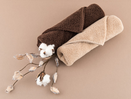 Spa Luxury Towels and Cotton Branch
