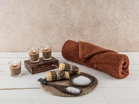 Spa and Bath Essentials in Natural Earth Tones