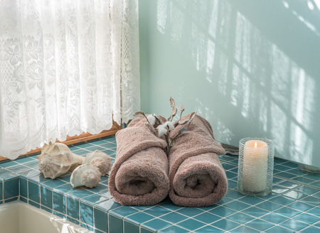 Luxury Bath Escape with Spa Towels and Candle