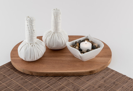 Thai Massage Balls and Aromatherapy Candle