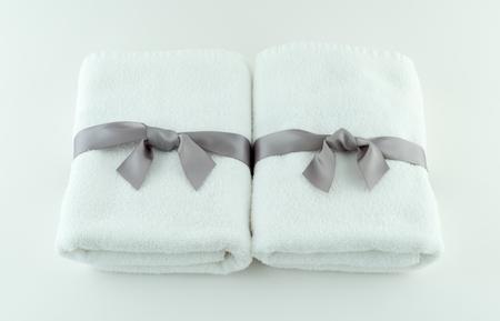 Spa Towels Tied With Silk Ribbon Reklamní fotografie