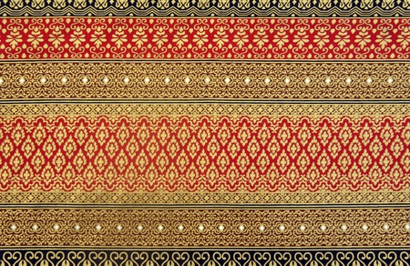 Pattern of thai native cloth photo