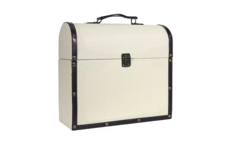 Retro Suitcase on white backround  photo