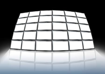 A Video wall  communication design Stock Photo - 10225238