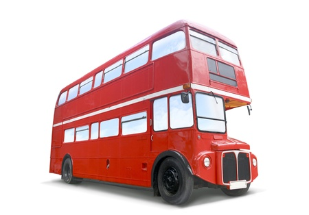 red bus:  Red Bus  isolated on white Stock Photo