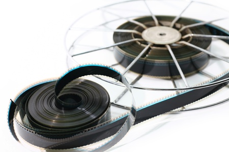 35mm: A vintage Film movie  isolated on white