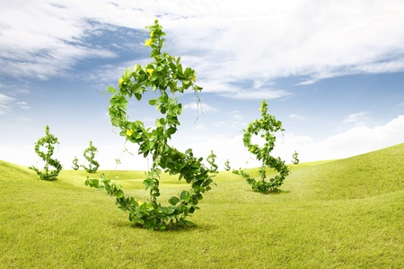 growing money: plant growing money dollar