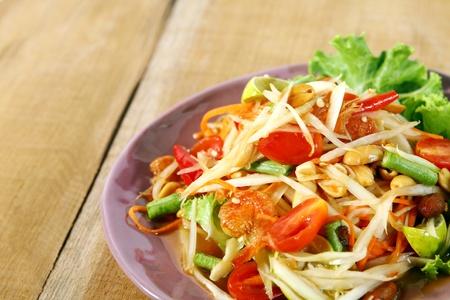 papaya: gỏi đu đủ xanh Thái thực phẩm