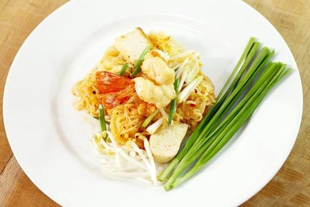Thai food Pad thai(noodles with shrimp ) photo