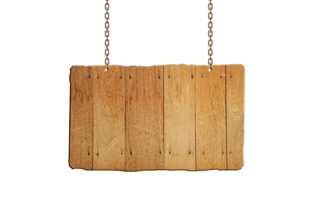 wooden circle: wooden sign hanging
