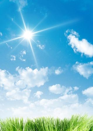 hope symbol of light: A beauty sky and grass