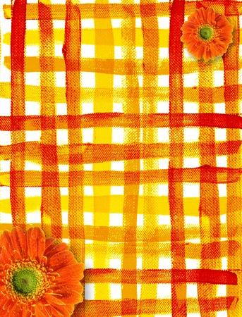Frame of brush spring flowers  photo