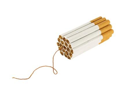 cigarette bomb isolate on white background  Stock Photo - 10288993