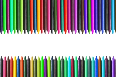 Colorful pencil crayons on a white background Stock Photo - 10288811