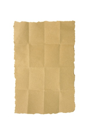 crumple brown paper on  white Stock Photo - 10293979