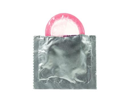 A first time open condom Banco de Imagens