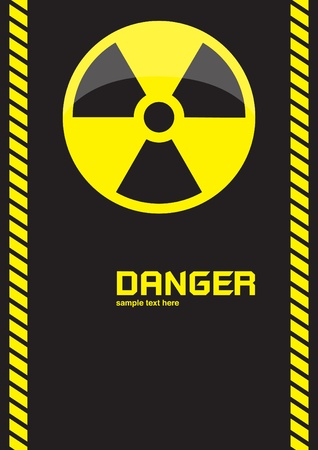 nuclear symbols warning on dark background  Stock Photo - 10293958