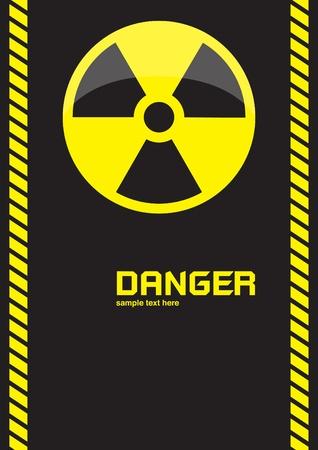 nuclear symbols warning on dark background Stock Photo - 10293958