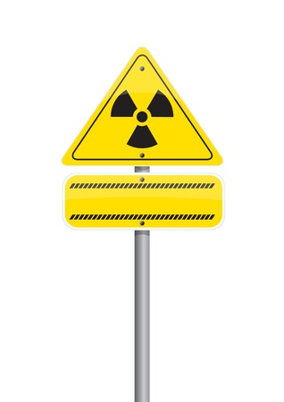 warning  nuclear on Road sign Stock Photo - 10293956