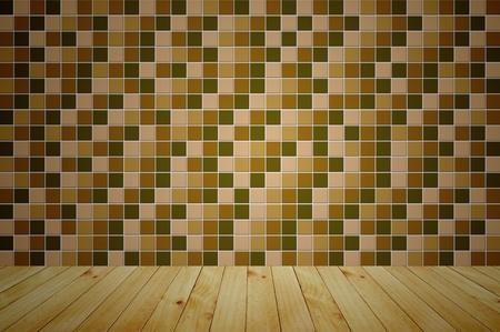 golden mosaic wooden room background  photo