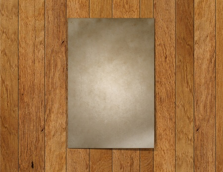 A paper blank on wood Stock Photo - 10294021