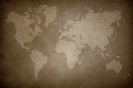 world map on brown paper Stock Photo - 10294001