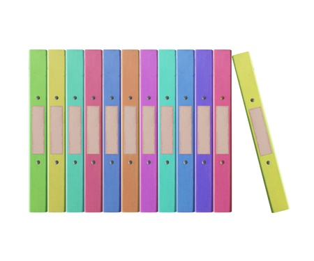 12 month old: 12 Pile di vecchie cartelle isolate