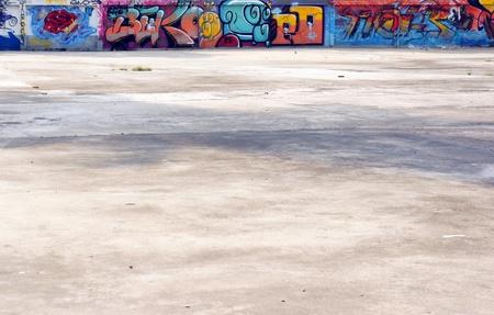 Graffitti Floor and Wall  photo