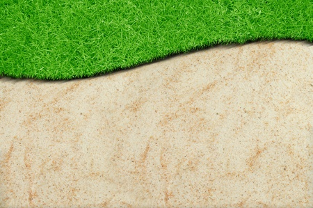 A green grass sand curve isolated Stock Photo - 10294020