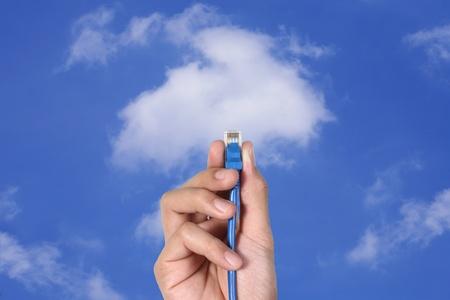 Cloud computing innovation digital concept Stock Photo - 10334031