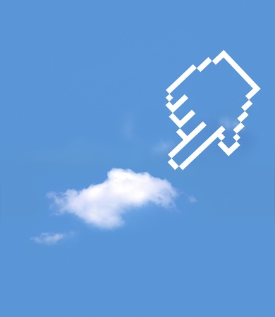 icon hand select cloud computing Stock Photo - 10334032
