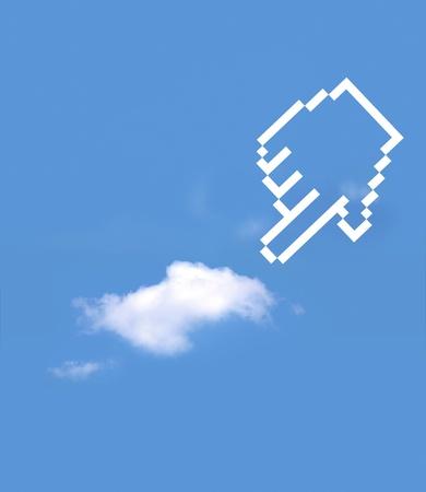 icon hand select cloud computing photo