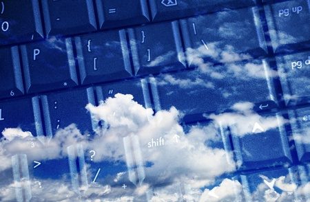 computer keyboard for cloud computing photo