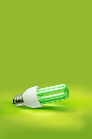 A green light fluorescent background Stock Photo - 10346506