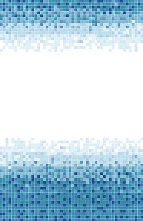 A blue mosaic tile background  Stock Photo